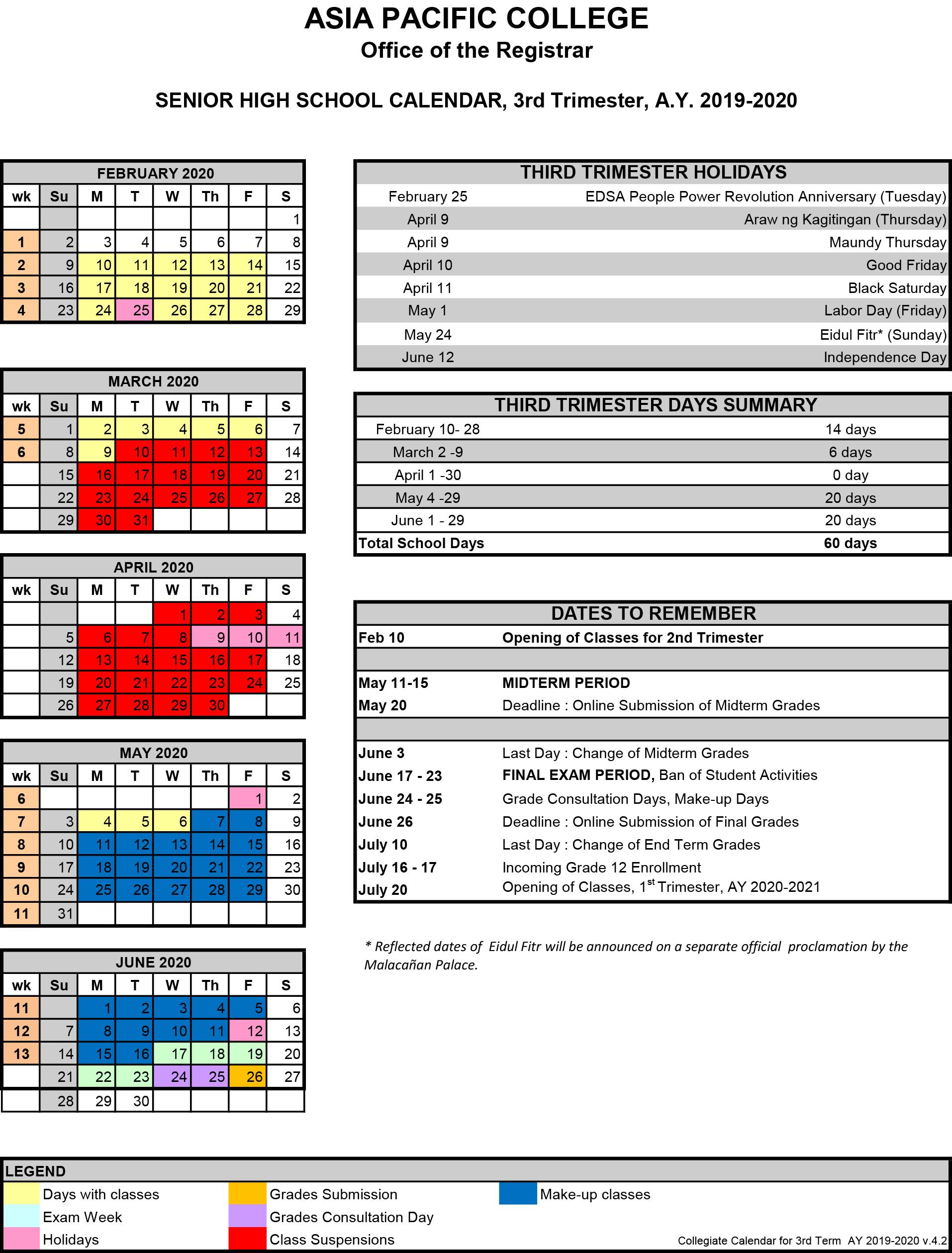 Term 3 SHS Calendar_as of 04-20-2020