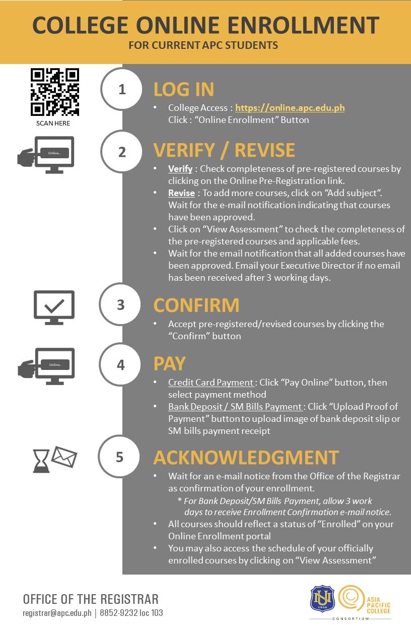 College_Online Enrollment Flow (AY 2020-2021 Term 1)-vJune17-REV