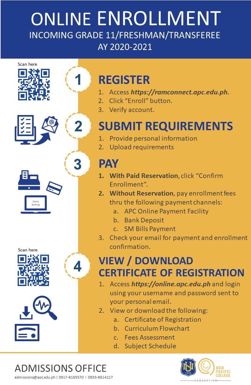 Online Enrollment Flow (2020-2021)-V3