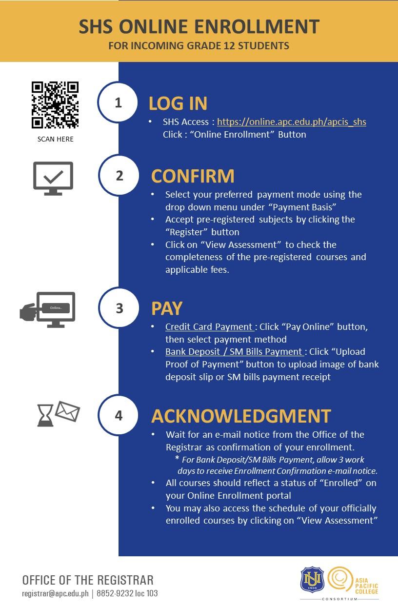 SHS_Online Enrollment Flow (AY 2020-2021 Term 1)-vJune17-REV