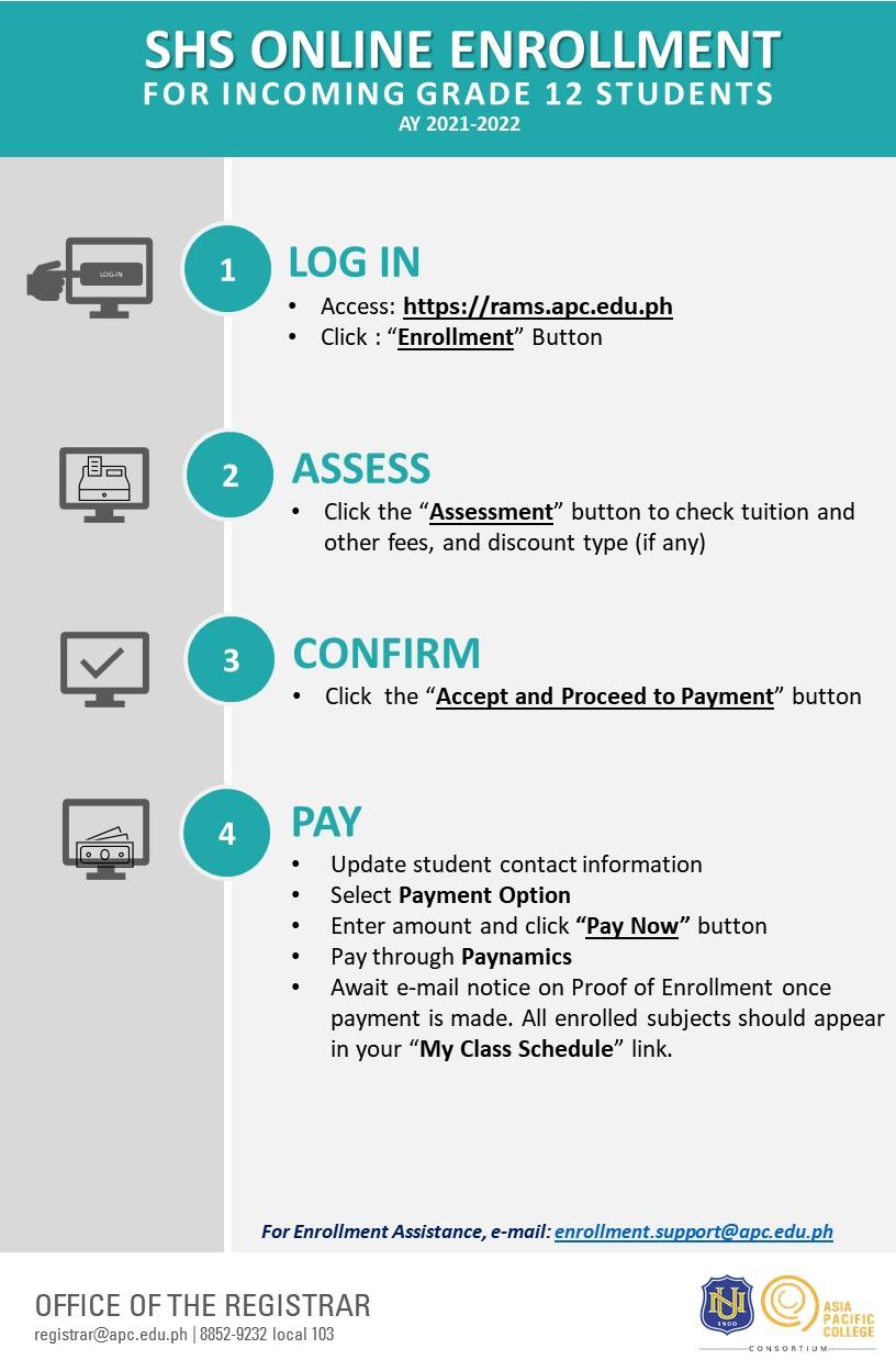 Online Enrollment Flow (AY 2021-2022 Term 1) v.3